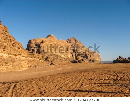 Hügeln Sand Stein Eindruck Berge mir Stock foto © meinzahn