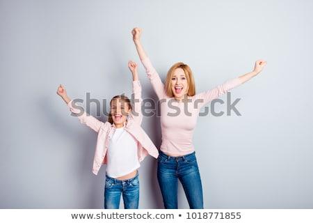 Hoera moeder kinderen lift moeder omhoog Stockfoto © cteconsulting
