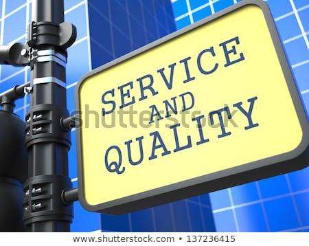 Business Concept. Service and Quality Waymark. Stock photo © tashatuvango