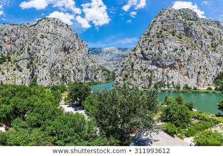 Панорама реке каньон Хорватия воды дома Сток-фото © anshar