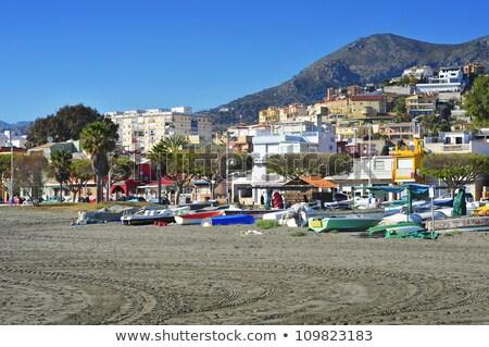 пляж малага Испания традиционный рыбалки лодках Сток-фото © nito