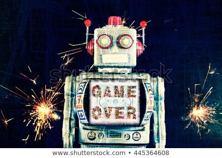 mutlu · robot · gülen · oyuncak - stok fotoğraf © creisinger