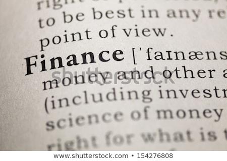 Finance in dictionary. Stock photo © iofoto