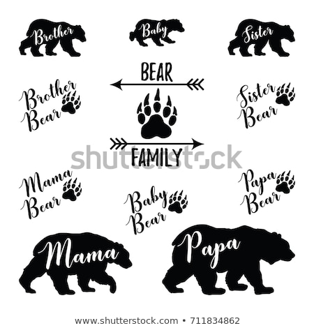 baby bear labels stock photo © kariiika