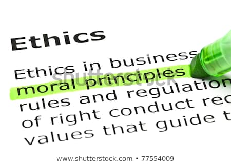 The word ethics highlighted in a dictionary Stock photo © sqback
