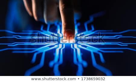 człowiek · biznesu · ekran · dotykowy · młodych · przycisk · działalności - zdjęcia stock © stevanovicigor