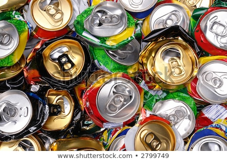 assorted beverages cans on the trash stock photo © lunamarina