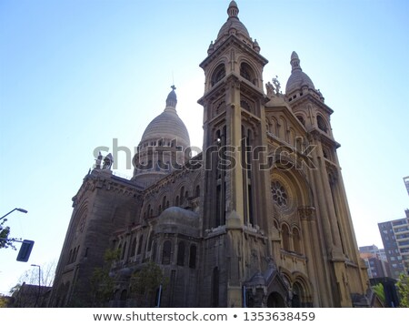 Kerk Santiago 2011 Parijs gebouw stedelijke Stockfoto © fxegs