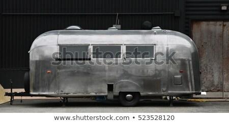 Foto stock: Metal · caravana · férias · verão · férias · prata