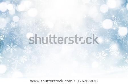 Foto d'archivio: Inverno · abstract · blu · onda · freddo · fiocco · di · neve