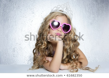 fashion little princess girl humor portrait stock photo © tarikvision