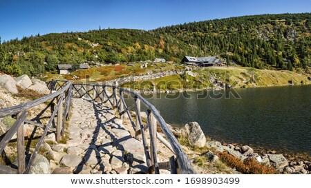 Sentier montagnes frontière post Pologne République tchèque Photo stock © janhetman