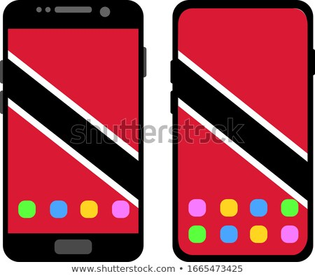 Smart phone button with Trinidad and Tobago flag Stock photo © lirch