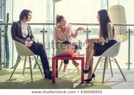 Trois jeunes paysage groupe exécutif Photo stock © photography33