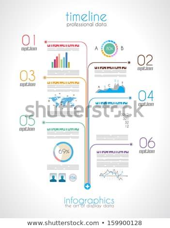 タイムライン 表示 データ 注文 インフォグラフィック 要素 ストックフォト © DavidArts