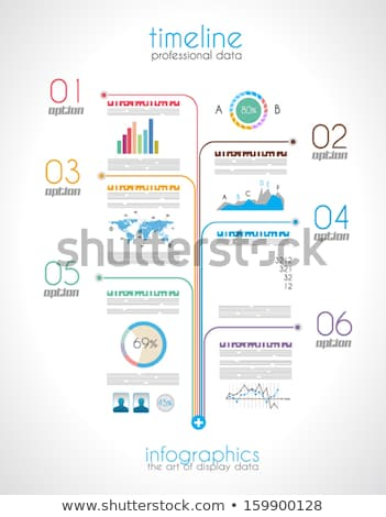 Timeline Display Daten um Elemente Stock foto © DavidArts