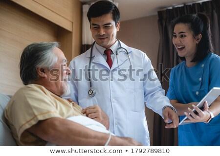 Médecine âgées souffrance solutions supérieurs douleur Photo stock © Lightsource