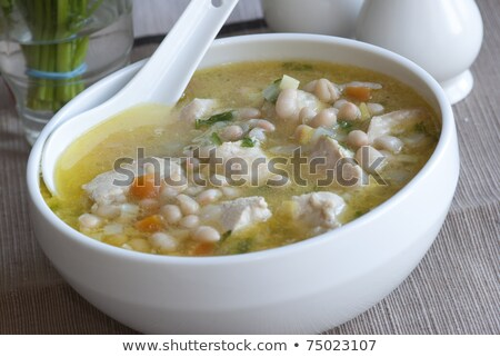 casserole with white bean and meats Stock photo © M-studio