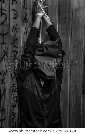 Monster chained in dark room Stock photo © Elnur