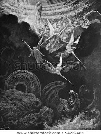 戦い 天使 ベクトル 画像 少女 ストックフォト © LVJONOK