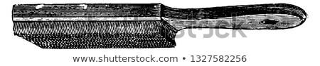 Bağbozumu dosya tel fırçalamak yalıtılmış beyaz Stok fotoğraf © RedDaxLuma