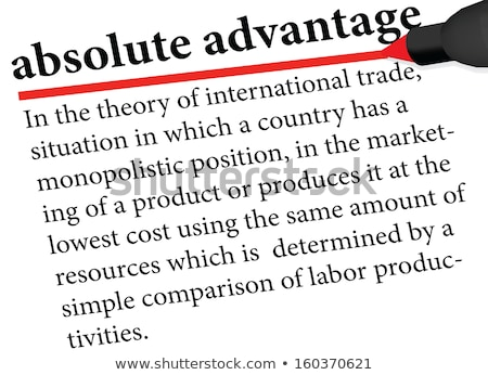Illustration of the term ' absolute advantage ' Stock photo © Istanbul2009