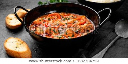Сток-фото: лосося · тушеное · мясо · вкусный · домашний · картофеля · красный