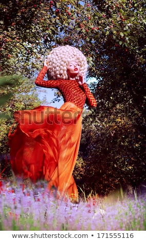 Moda kadın yaratıcı sanat peruk Stok fotoğraf © gromovataya