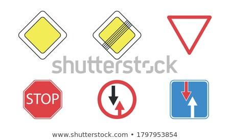 semáforo · ilustração · projeto · branco · assinar · rodovia - foto stock © alexmillos