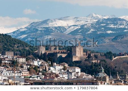 ラ · アルハンブラ宮殿 · スペイン · 表示 · 塔 · 旅行 - ストックフォト © capturelight