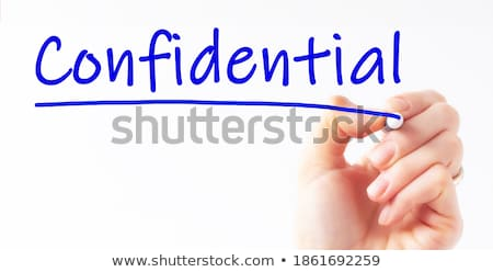 Stock photo: Privacy Blue Marker