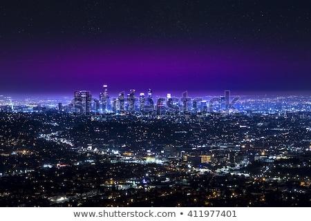 Noite ver Los Angeles céu luz montanha Foto stock © meinzahn