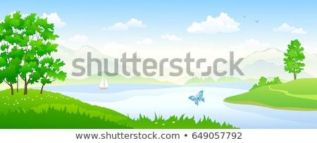 riverside scenery Stock photo © prill