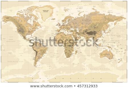 Carte du monde France monde noir modernes Photo stock © axstokes