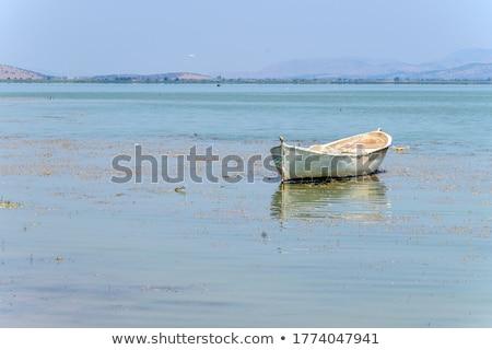 mavi · okyanus · kırmızı · deniz · tekne - stok fotoğraf © cla78