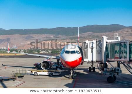 Repülőgép kapu pozició festék utazás repülőgép Stock fotó © meinzahn