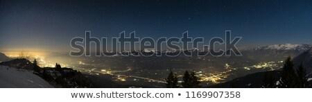 salzburg city view at night stock photo © nejron