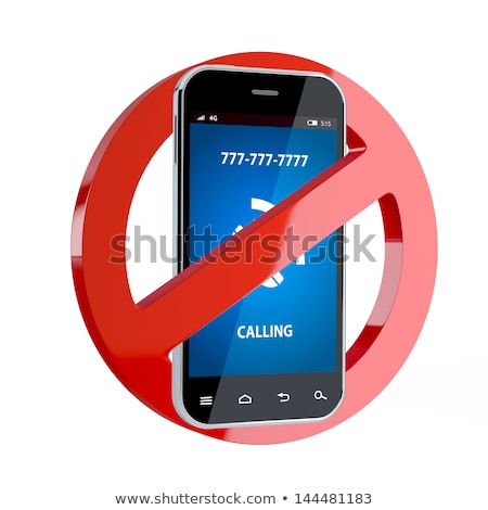 3d illustration of No cell phone sign  stock photo © designers