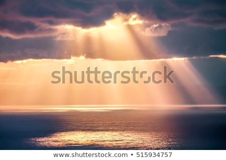 rays · güneş · bulutlar · karanlık · imzalamak · fırtına - stok fotoğraf © soupstock