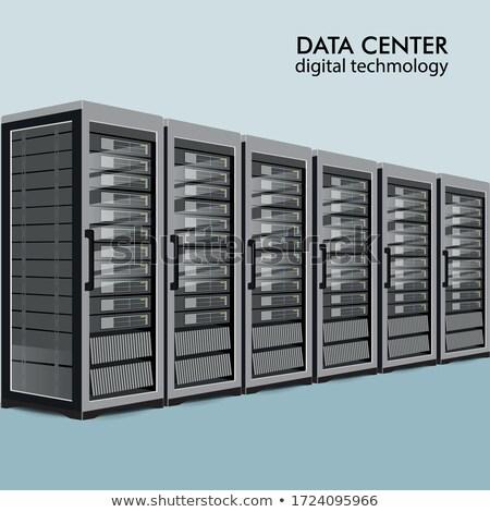 Serveurs rangée affaires serveur sécurité réseau Photo stock © fenton