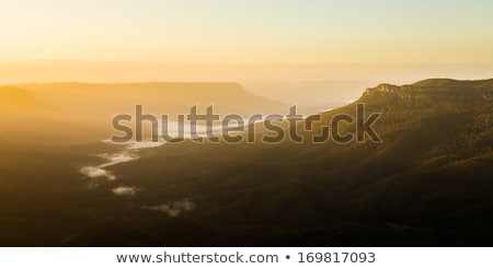 Foto d'archivio: Sunrise From Sublime Point In Blue Mountains Australia