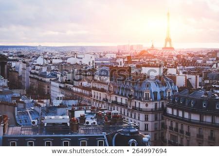 表示 · 屋根 · パリ · フランス · 通り · 歴史的 - ストックフォト © juniart