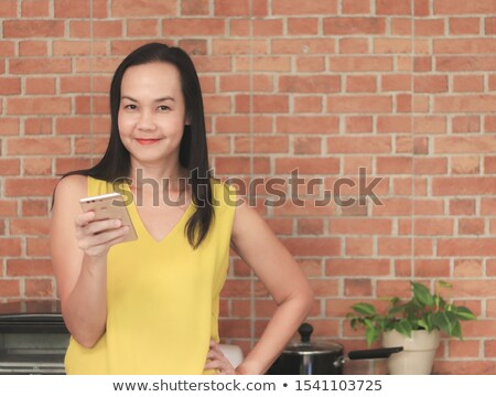 Young Asian woman standing with her arms akimbo Stock photo © bmonteny