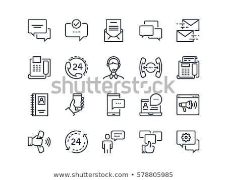 Communications Line Icons Stock photo © AnatolyM