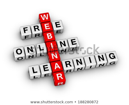 Free Webinar In 3d Letters And Block Stok fotoğraf © ALMAGAMI