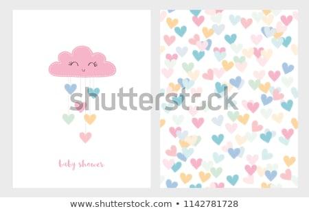 corazón · amor · nubes · cielo · azul · cielo - foto stock © enlife