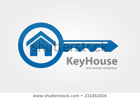 Vector simple real estate concept illustration – house and key stock photo © Mr_Vector