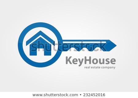 Vektor egyszerű ingatlan illusztráció ház kulcs Stock fotó © Mr_Vector