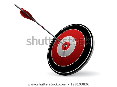 Expert pijlen Rood target drie opknoping Stockfoto © tashatuvango