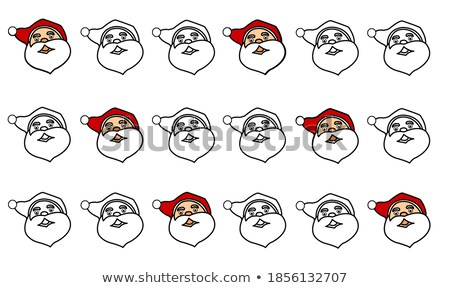 The head of Santa Claus and gnome. Template cards for Christmas Stock photo © orensila